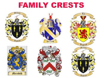 FAMILY CRESTS EMBROIDERY DESIGNS